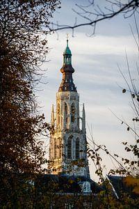 Lever du soleil à la Grande Église de Breda