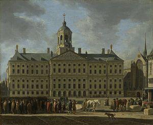 Amsterdam schilderij Het stadhuis op de Dam in Amsterdam (HQ)
