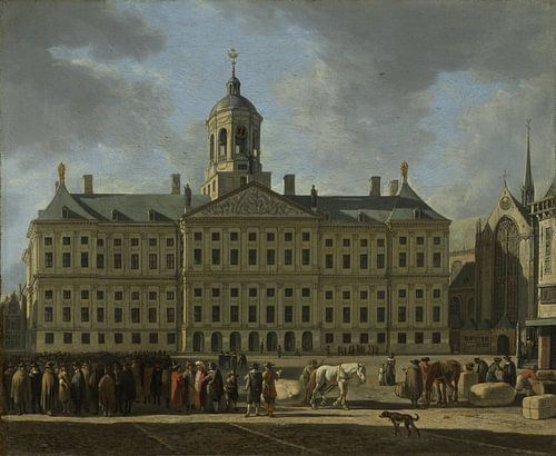 Amsterdam schilderij Het stadhuis op de Dam in Amsterdam (HQ) van