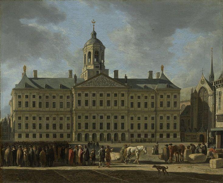 Amsterdam schilderij Het stadhuis op de Dam in Amsterdam (HQ) van Schilderijen Nu