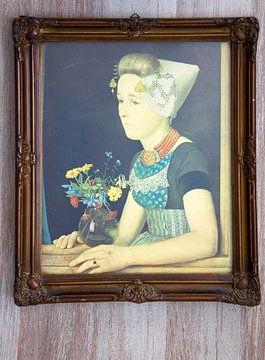 Oude Lijst Met Afbeelding van Ellen Voorn