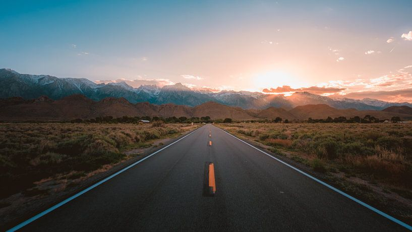 Sierra Nevada zonsondergang sur Andy Troy