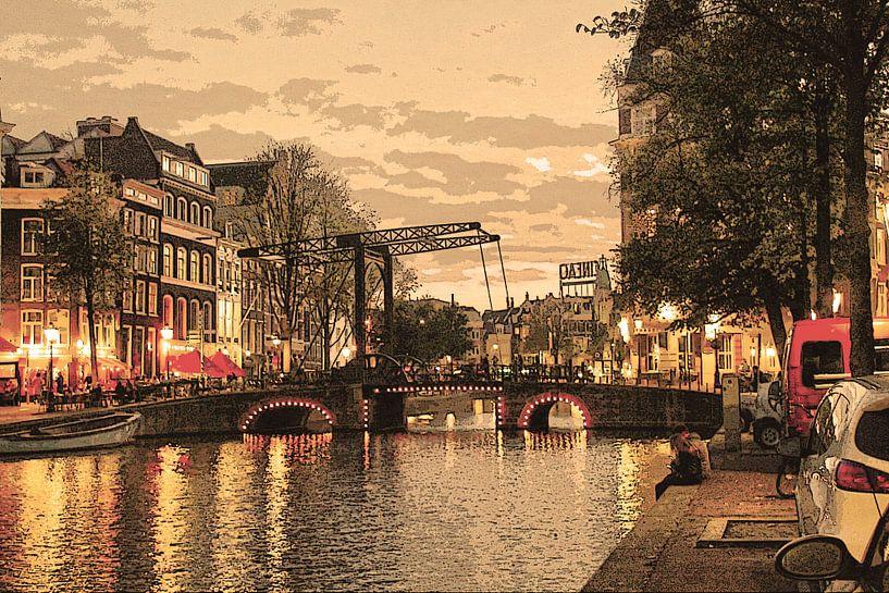Binnenstad van Amsterdam Nederland Oud van Hendrik-Jan Kornelis