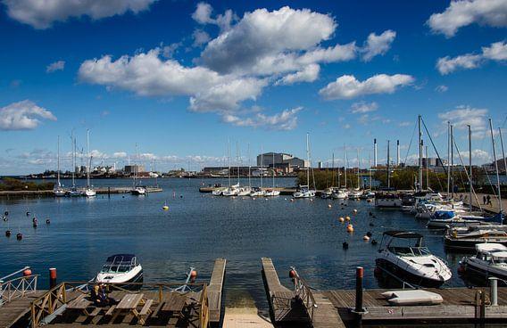 Jachthaven in Kopenhagen, Denemarken