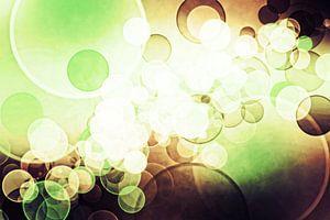 bokeh cofee green