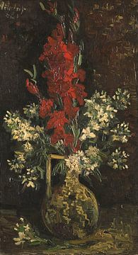 Vase aux fleurs rouges et blanches, Vincent van Gogh