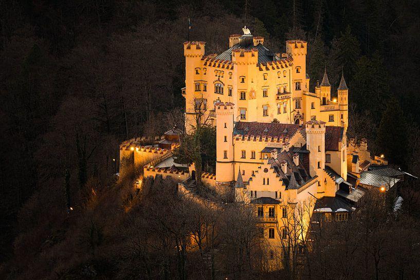 Le château de Hohenschwangau illuminé sur Henk Meijer Photography