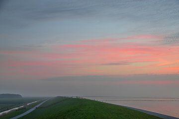 Zonsondergang bij waddenzee von Charlotte Bakker