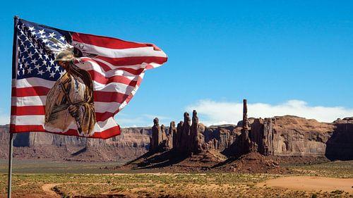 Amerikaanse vlag in Monument Valley van