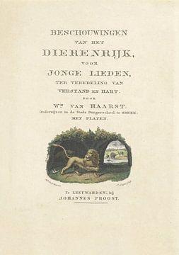 Titelblatt für W. van Haarst, Betrachtungen über das Tierreich, 1828, Dirk Sluyter, nach Haatje Piet