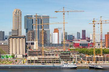 Under Construction: de Skyline van Rotterdam (Katendrecht en Kop van Zuid) van Annette Roijaards