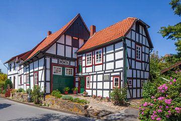 Vakwerkhuis, Stemwede-Levern, Gemeente Stemwede, Noordrijn-Westfalen, Duitsland, Europa