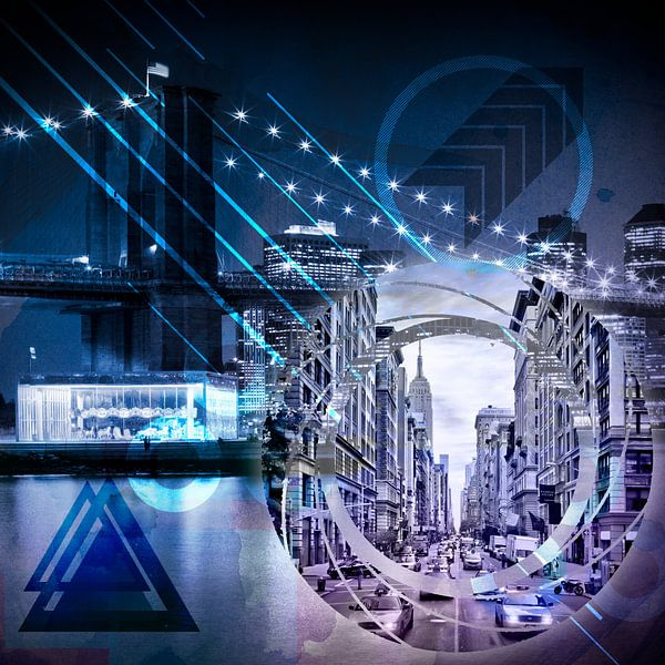 New York City | Geometric Mix No. 1 van Melanie Viola