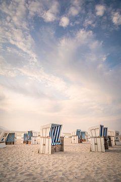 Strandkörbe am Weststrand von Kampen, Sylt von Christian Müringer