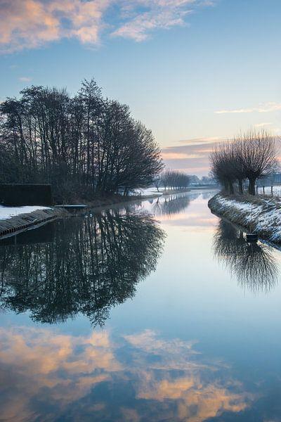 De Linge in winterse sferen van Cynthia Derksen