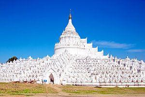 De witte pagode van Hsinbyume (Mya Thein Dan pagode ) paya tempel, Mingun, Mandalay Myanmar