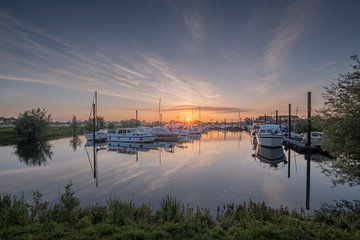 Boten in mooie haven van Moetwil en van Dijk - Fotografie