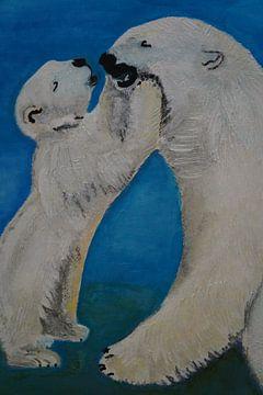 Küsschen Mami - Eisbären van Babetts Bildergalerie