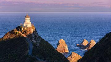 Nugget Point Lighthouse, Nieuw-Zeeland van Henk Meijer Photography