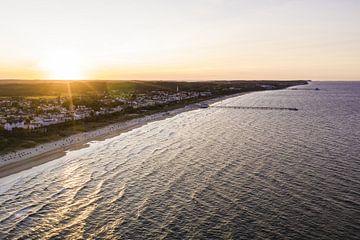 Luftbildaufnahme von Ahlbeck und Heringsdorf auf der Insel Usedom von Werner Dieterich