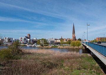 Skyline von Rostock in Mecklenburg-Vorpommern von Animaflora PicsStock