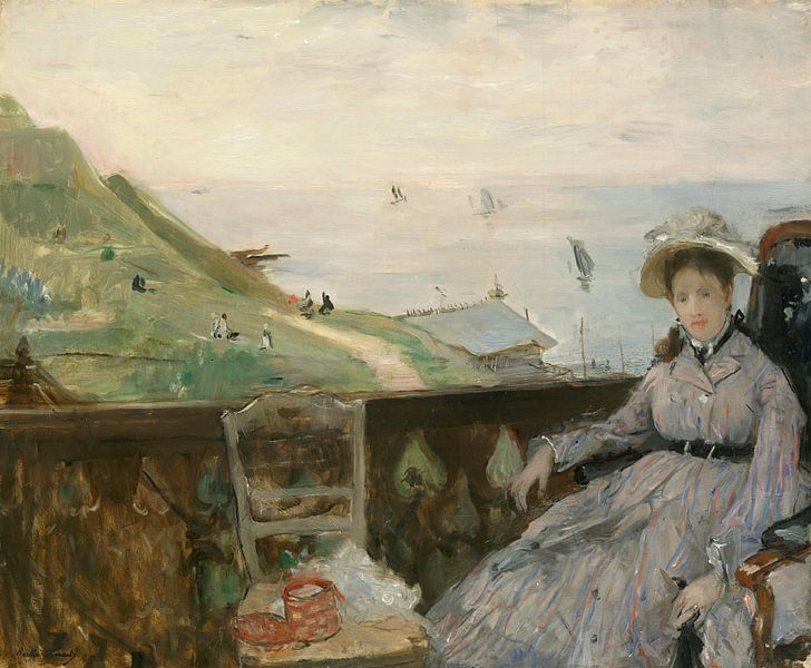 Auf der Terrasse, Berthe Morisot von Meesterlijcke Meesters