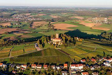 Burg Steinsberg im Kraichgau von oben