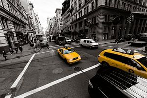 New York yellow cab van