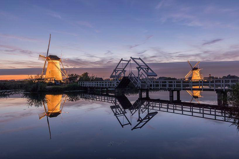 Coloring mills of Kinderdijk van Jan Koppelaar