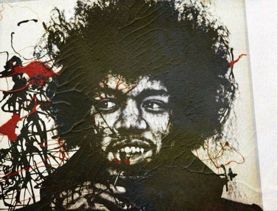 Jimi Hendrix Modern Art van Felix von Altersheim
