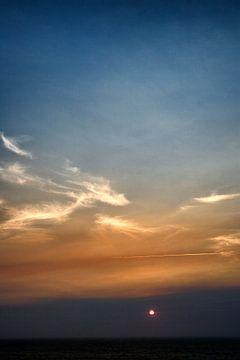 Zonsondergang aan de Portugese kust, Algarve van
