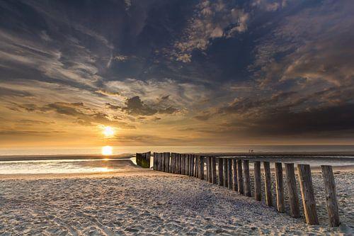 Zonsondergang in Haamstede (3) van