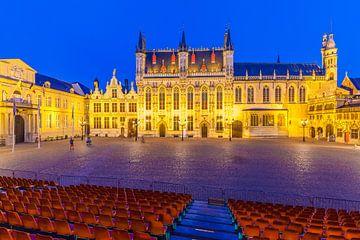 Place du château dans la vieille ville de Bruges sur Werner Dieterich