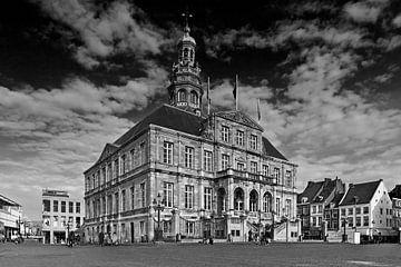 Stadhuis Maastricht zwart / wit van