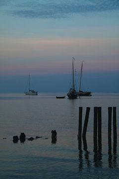 Ameland/Blauwe uurtje sur Rinnie Wijnstra