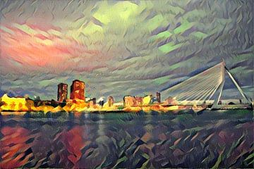 Quai de la peinture futuriste Rotterdam sur Slimme Kunst.nl