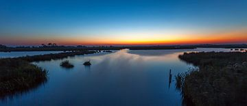 panorama sunset Leekstermeer von Wil de Boer