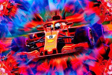 Sebastian Vettel - Years In Red van Jean-Louis Glineur alias DeVerviers