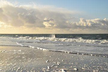Paal in zee von Jacoba de Graaf