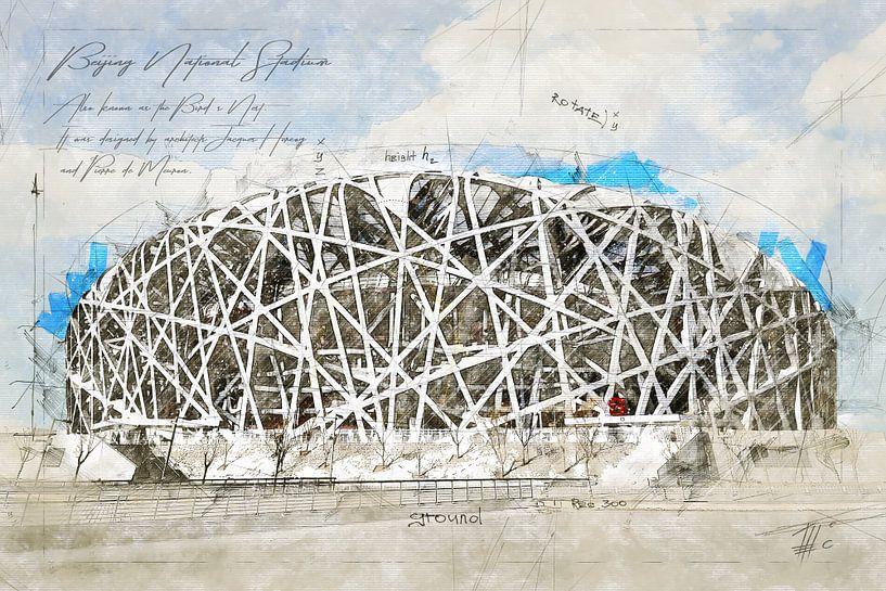 National Stadion, Peking von Theodor Decker