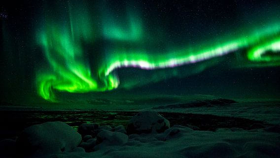 Noorderlicht in de Lofoten / Vesteralen, Noorwegen van Martijn Smeets