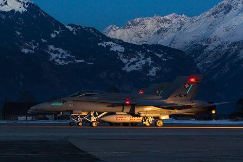 Zwitserse Luchtmacht F/A-18 Hornet van