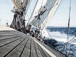 Zeilrace op de Middellandse Zee