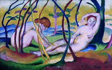 Franz Marc, Naakt onder Bomen, 1911 van Atelier Liesjes
