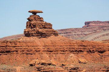 Mexican Hat; bijzondere rots van Peter Leenen