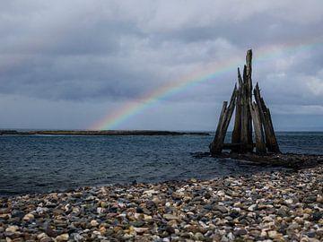 Zeezicht (regenboog) van Helga fotosvanhelga