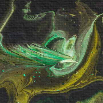 Paradiesvogel grün von AJ Art