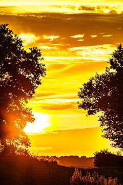 Markelo Coucher de soleil sur Frank Slaghuis