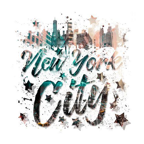 New York City Typography   Geometric Mix No. 4