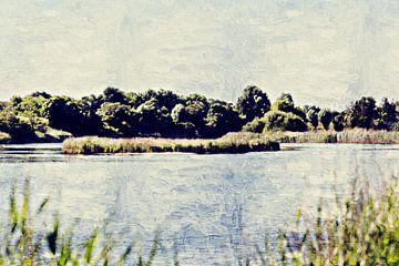 Natuurgebied de Pluimpot in Sint-Maartensdijk (Tholen) (kunstwerk) von Art by Jeronimo
